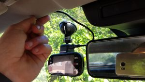 Fitting a dashcam