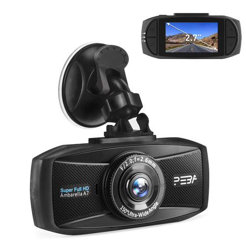 PEBA 1296p Dashboard camera image for the review